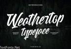 Weathertop Modern Script Typeface