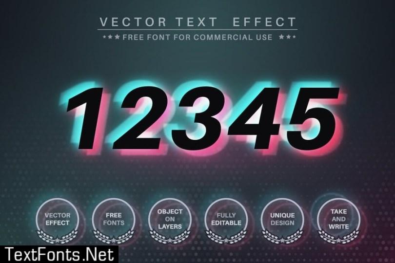 White stone - editable text effect, font style U6K7NM3