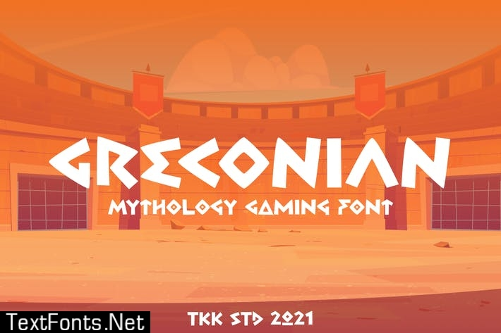Greconian - Ancient greek style font