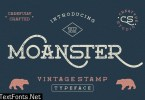 Moanster Vintage Stamp