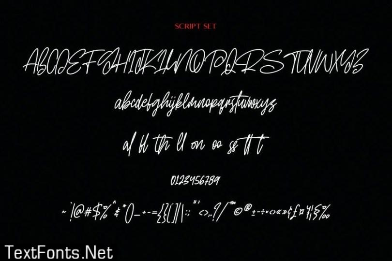 Roma Invicta Font Duo Script Sans