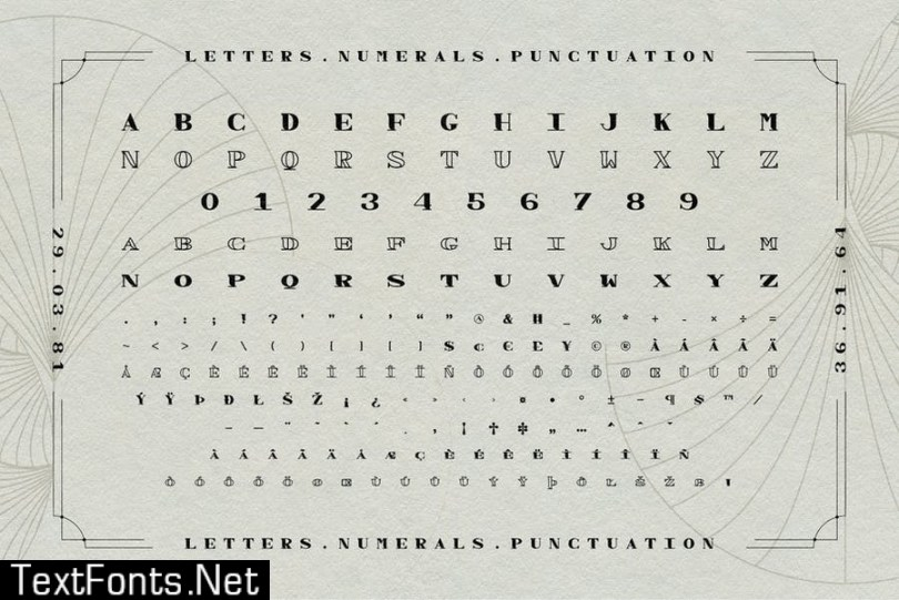 Spasi Decorative Wide Serif