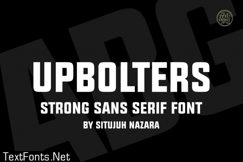 Upbolters Font