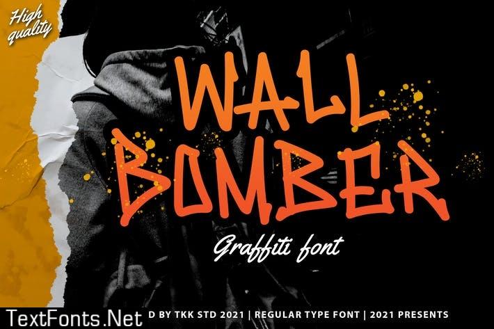 Wall Bomber - Urban graffiti font