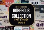 Gorgeous Collection Font Bundle