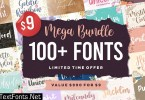 Mega Bundle - 100+ Fonts