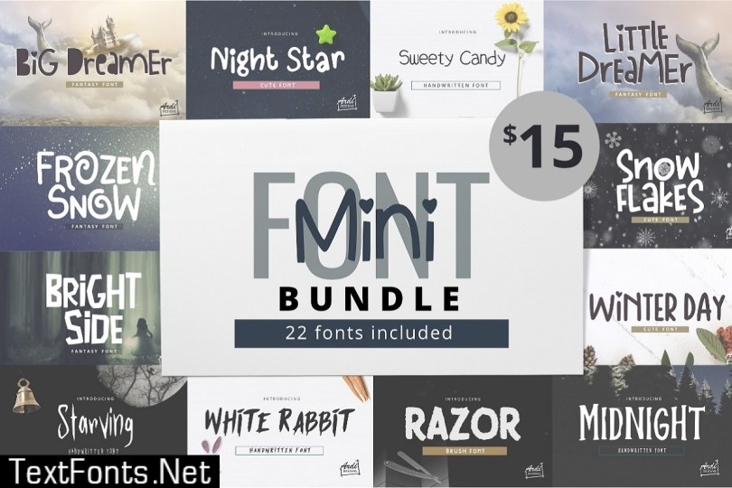Mini Font Bundle