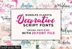 The Classy and Decorative Script Font Bundle
