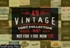 Vintage Font Collection Bundle