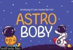 Astro Boby - Kids Aero Space Quirkiy Unique font