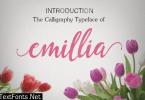 Emillia Script Font