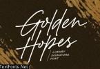 Golden Hopes - Natural Signature Font