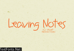 Leaving Notes Font
