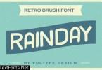 Rainday Vintage Retro Font