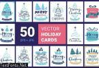 50 Christmas cards