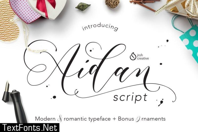 Aidan Romantic Script 560359