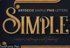 Artdeco Simple - 3D Lettering