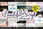 Beautiful Script Font Bundle