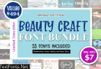 Beauty Craft Font Bundle