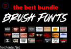 Brush Fonts Bundle