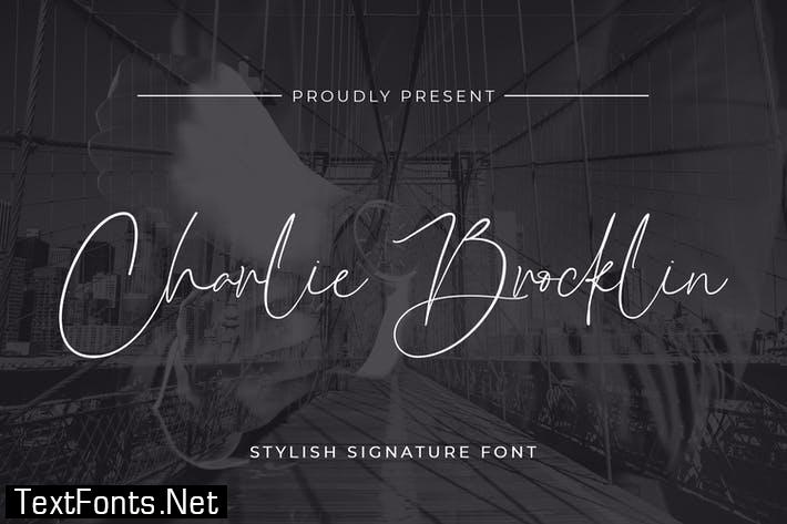Charlie Brocklin - Stylish Signature Script