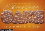Chocolate Cake - 3D Lettering