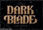 Dark Blade   Classic Vintage Font
