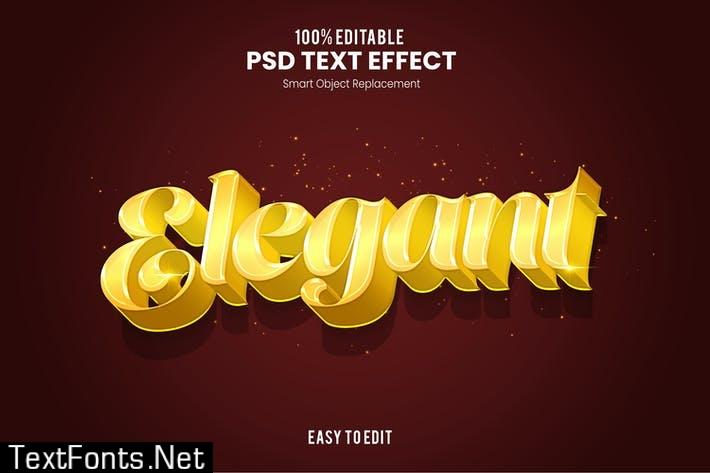 Elegant 3D PSD Text Effect K7JQBJA