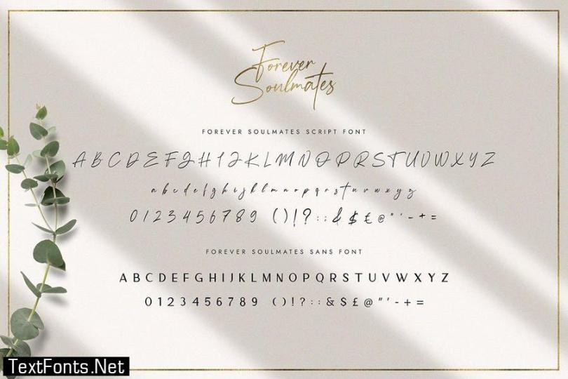 Forever Soulmates Font Duo