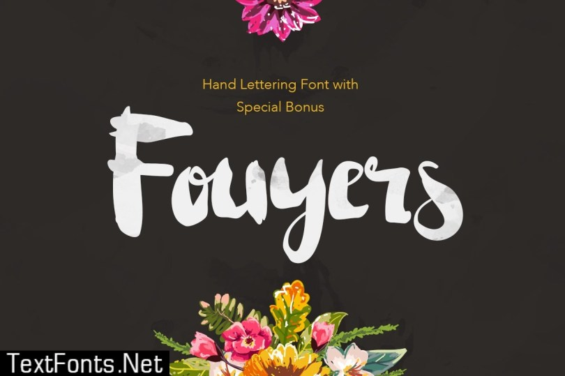 Fouyers Font + Bonus Badges & Vectors