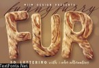 Funny Furry - 3D Lettering