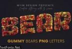 Gummy Bears - 3D Lettering