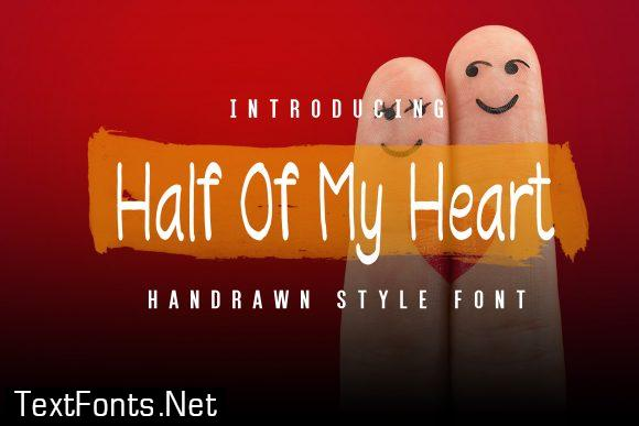 Half of My Heart Font