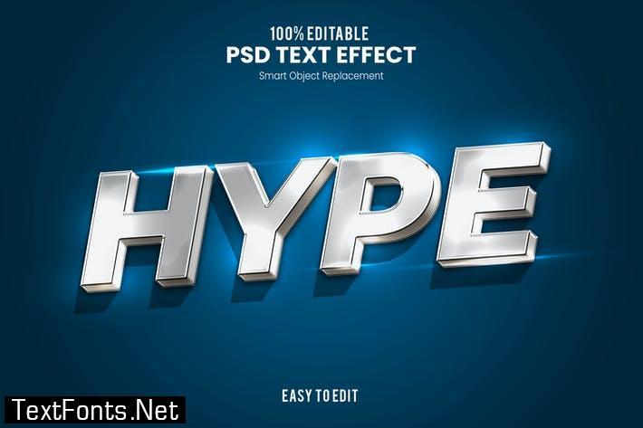 Hype - Elegant 3D PSD Text Effect