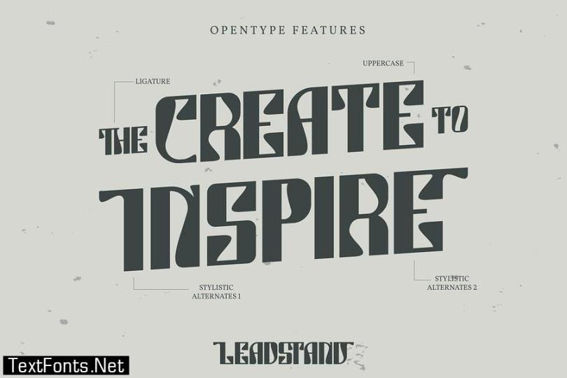 Leadstand   Classic Vintage Font