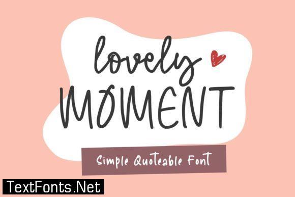 Lovely Moment Font