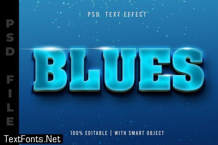 Luminous Blue PSD Text Effect