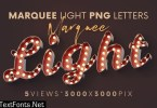 Marquee Light Bulbs - 3D Lettering