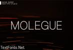 Molegue Font