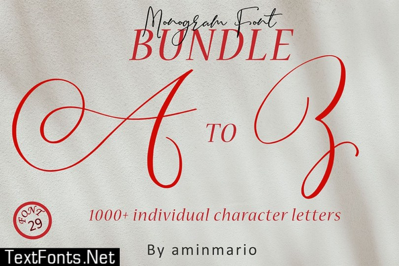 Monograms Bundle from a to Z
