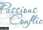 Passions Conflict Font