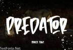 Predator - Brush Font