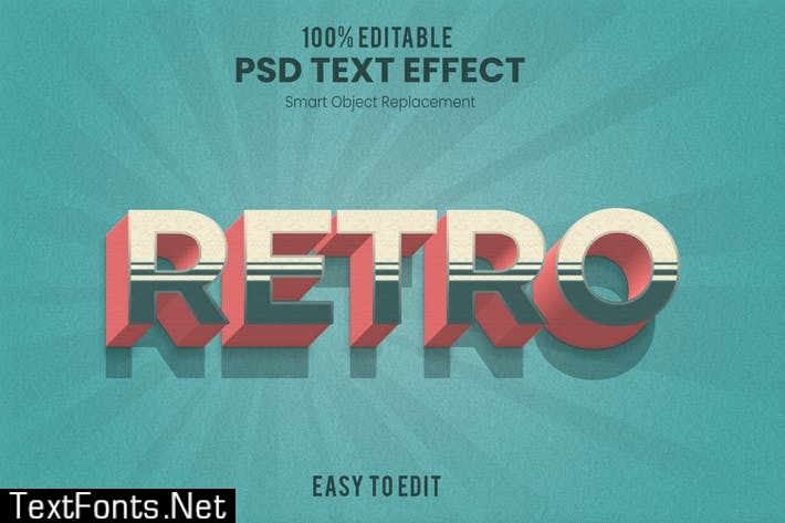 Retro Layer 3D Text Effect 2YZEM8A