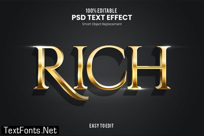 Rich - Elegant 3D PSD Text Effect