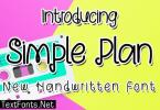 Simple Plan Font