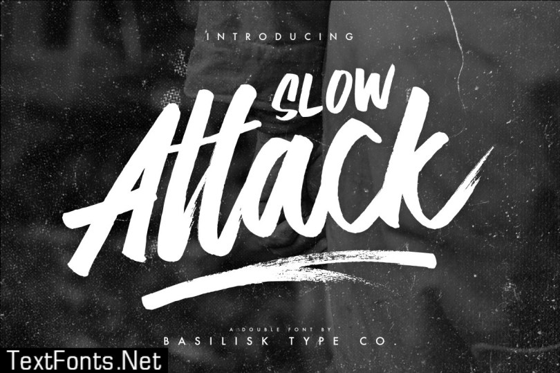 Slow Attack - Double Fonts 504681