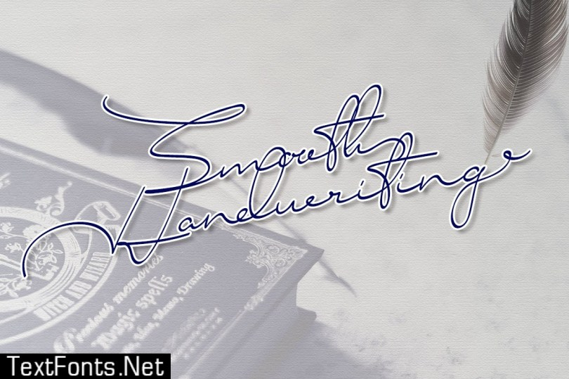 Smooth Handwriting Typeface Font 249747
