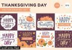 Thanksgiving Day illustrations