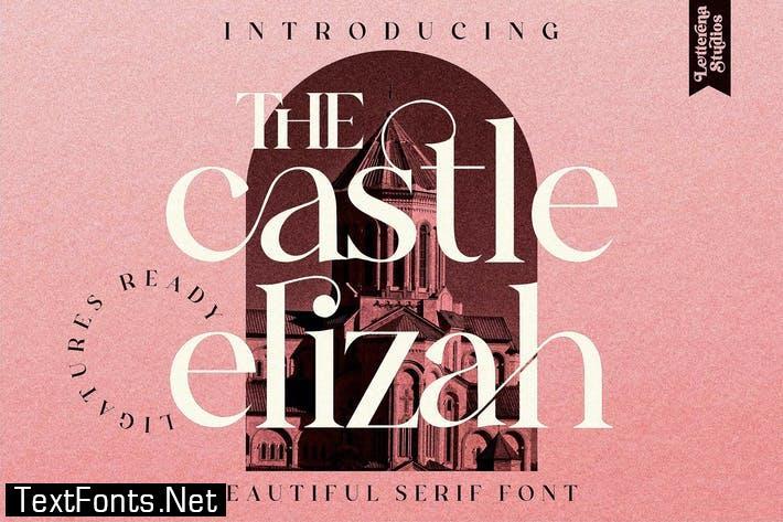 The Castle Elizah Serif Font LS