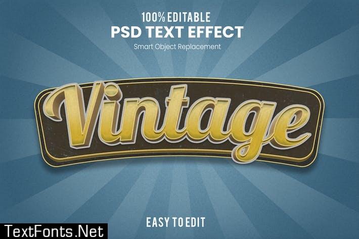 Vintage 3D Text Effect U3LHDDF